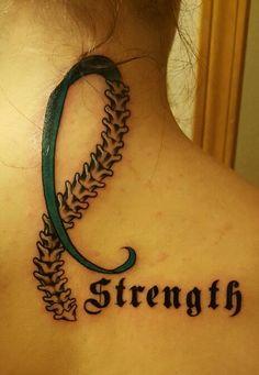 Scoliosis Awareness Tattoo