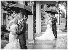 The Regency at Dominion Valley Wedding; Bride and Groom; #brideandgroomportrait #rainyweddingday #umbrellaweddingportraits #haymarketwedding #weddingphotography #weddingphotos #weddingportraits