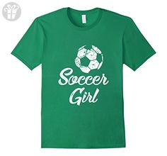 Mens Soccer Girl Shirt, Cute Funny Player Fan Gift Large Kelly Green - Funny shirts (*Amazon Partner-Link)