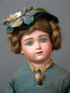 If you are interested in purchasing ONE spectacular German doll this year, let this be this extremely special lady. The Rare and elusive A T Kestner,