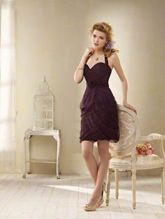 Is it purple? Is it brown? Who knows. Alfred Angelo, no price.