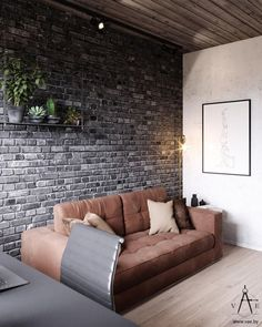 This city house in Minsk, Belarus, is of modern loft style. Designed by VAE, the interior is decked out with metal and concrete industrial features, softe Futuristisches Design, Loft Design, Home Office Design, Design Styles, Rustic Design, Warm Industrial, Industrial House, Industrial Style, Brick Interior