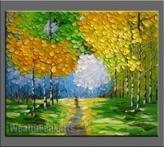 *This is an original painting ,100% hand painted oil on canvas;  *Technique:impasto,made by palette knife;  *Size:36x30,if any other size,pls