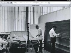 Working on Toronado, from Chuck Jordan files