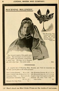 1897 mourning fashion from Jordan Marsh.