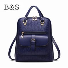 2016 Korean Fashion PU Leather Waterproof Backpack Student Schoolbags Luxury Women Backpacks Travel Bags Mochila Feminina Brand