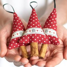 Handmade Christmas Decorations Rustic Reindeer by BeledienHandmade