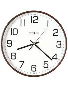 Howard Miller Kenton Wall Clock - White Dial - Espresso Finish - Woode – Princeton Watches Frames On Wall, Wooden Frames, Howard Miller Wall Clock, Farmhouse Clocks, Classic White, Espresso, It Is Finished, Decorating Ideas, Handsome