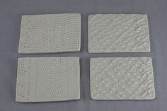 """""""fabric"""" ceramic coasters"""