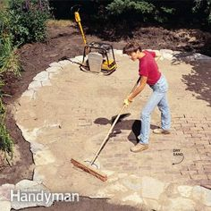 Building a brick and stone patio like ours doesn't take special skills. The casual, free-form design allows you to relax and be creative rather than worrying about precise cutting and fitting.    It's a big project, but we'll tell you everything you need to know to do it. In a nutshell: