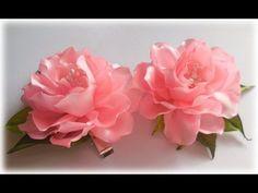 Хризантема из ленты / Пошаговый МК / Ribbons Chrysanthemum / DIY Kanzashi flower - YouTube
