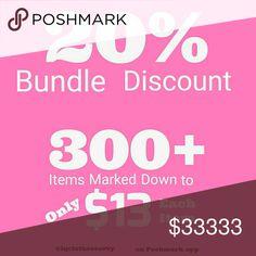 20% BUNDLE DISCOUNT! 300+ Items down to  $13 Each 20% BUNDLE DISCOUNT! 300+ Items down to  $13 Each Jackets & Coats