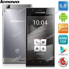 "(LENOVO) K900 5.5"" IPS Gorilla Glass 2 Intel Atom Z2580 Android 4.2.1 2-Core Phone 13MP CAM 2GB RAM 16GB ROM P03-K900"