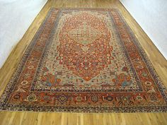 "Persian: Geometric 20' 4"" x 12' 0"" Antique Serapi at Persian Gallery New York - Antique Decorative Carpets & Period Tapestries"