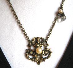 VINTAGE GODDESS necklace.  Pretty! $28.00.  http://www.etsy.com/listing/50266922/vintage-goddess?#