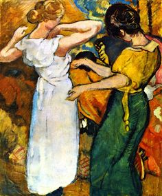 Young woman in a white dress, by Louis Valtat.