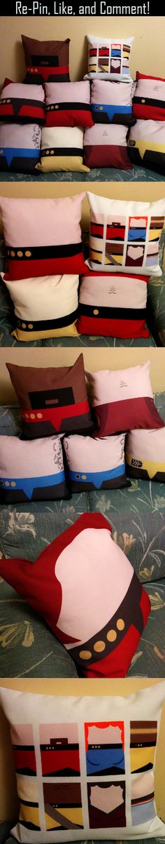 #StarTrek pillows.  Like, comment, and re-pin.  Click on the image to see where you can pick them up!