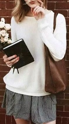 Classic Beige Ribbed Knit Pullover