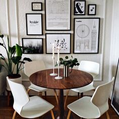 Pike Chairs with Wood Seat - Modern Dining Chairs - Modern Dining Room & Kitchen Furniture - Room & Board Dining Room Walls, Dining Room Design, Apartment Dining Rooms, Dining Room Office, Cozy Dining Rooms, Dining Room Picture Wall, Ikea Dining Room, Diningroom Decor, Modern Apartment Decor