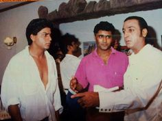 SRK With Gulshan Grover.