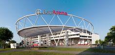 * The BayArena * 2009. Local: Leverkusen, Alemanha. Capacidade: 30.210 Lugares. Mandante: Bayer 04 Leverkusen
