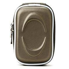 Charcoal Grey VanGoddy Semi Hard EVA Carrying Case for Nikon COOLPIX S33 13.2MP Waterproof Digital Camera and Screen Protector