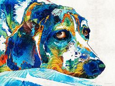 http://fineartamerica.com/featured/colorful-beagle-dog-art-by-sharon-cummings-sharon-cummings.html