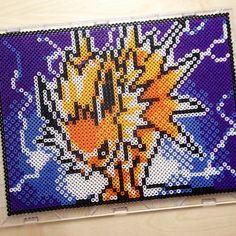 Jolteon Pokemon perler beads  by chocobicakes