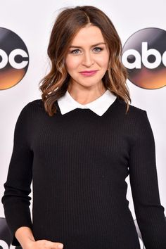 Pin for Later: Buns in the Oven: 22 Stars Who Are Expecting Babies This Year Caterina Scorsone Amelia Greys Anatomy, Greys Anatomy Cast, Caterina Scorsone, Amelia Shepherd, Grey's Anatomy Doctors, Amelia Gray, Jackson Avery, Grey's Anatomy Tv Show, Hair Color And Cut