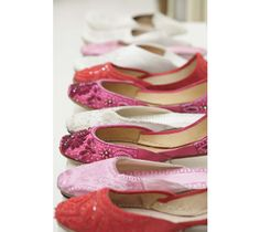 Pink and Red Slippers