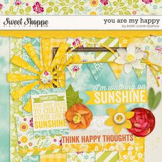 You Are My Happy mini kit freebie from Kristin Cronin-Barrow