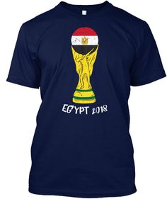 Egypt Dabbing World Cup 2018 Navy T-Shirt Front Soccer Cup bd5bfc531