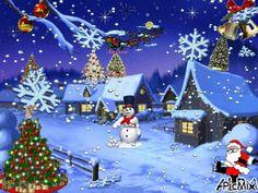 Merry Christmas Gif, Holiday Gif, Christmas Scenery, Christmas Art, Vintage Christmas, Christmas Decorations, Animated Christmas Pictures, Merry Christmas Pictures, Xmas Theme