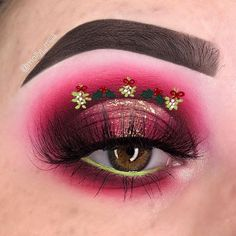 Bewildering CHRISTMAS MAKEUP LOOKS! It's Very Funny and Amazing For This December! Part 16 ; christmas makeup looks; Christmas Makeup Look, Holiday Makeup, Holiday Nails, Red Eyeshadow, Smokey Eye Makeup, Silver Eyeliner, Plouise Makeup Academy, Makeup Inspiration, Makeup Ideas