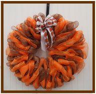 Falcon - inspired deco mesh wreath. Go Falcons!