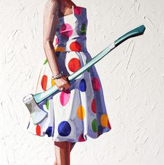 """<p>Kelly Reemtsen's candy-colored paintings of women have dark undertones, exploring the paradoxical status of being female in a """"post-feminist"""" contemporary society. Reemtsen's iconic motif is a woman in a festive cocktail dress, sporting an object that is at odds with her leisurely costume, like carpentry equipment or power tools. Her other subjects have included women […]</p>"""