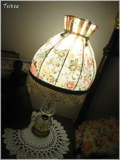 Lampe de chevet chinée relookée #LampDeChevet