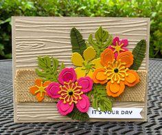 Krystal's Cards: Stampin' Up! Botanical Blooms Sunburst