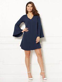 New York & Company Eva Mendes Collection Estera Bell-Sleeve Dress  - 15 Office Approved Looks You Can Wear From Work To Play