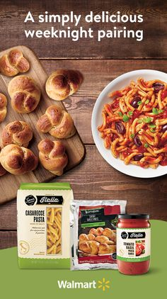 Garlic bread just got an upgrade with Marketside Three Cheese Garlic Knots --hand-tied, buttery flavored garlic knots, loaded with mozzarella, provolone,and parmesan cheese. Pair it with your favorite pasta, like Sam's Choice Italia Casarecce Pasta, and dinner is served. Get this perfect pairing at Walmart.