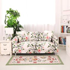 117 Best Sofa Cover Images On Pinterest Corner Sofa Covers Floral