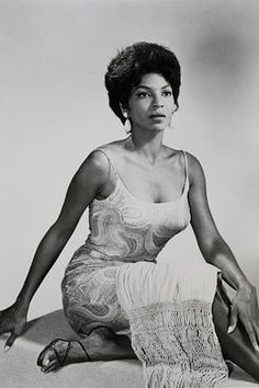 Best known for playing Lieutenant Uhura, the communications officer on the original 60's 'Star Trek' television series, Nichelle Nichols is one of the first African-American women to be cast in a role other than stereotyped black maid or nanny.
