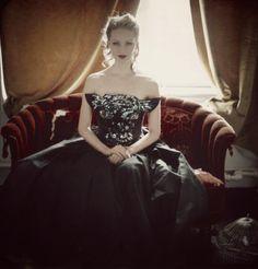 Vintage Sequin Black Cat Dress