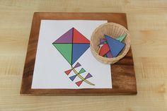 Build A Kite montessori activity Montessori Practical Life, Montessori Toddler, Montessori Activities, Infant Activities, Kindergarten Activities, Children Activities, Preschool Science, Preschool Classroom, Preschool Crafts