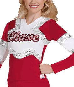 Stretch Sequin Cheer Uniform Top by Chassé