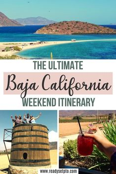 The Ultimate Baja California Weekend Itinerary. Looking for an awesome weekend adventure from the Southern California area? Take a road trip to Mexico! Baja California has so much to offer, including wine country, beaches, geysers, and of course- great food. Check out my guide to plan your trip! Mexico Travel | Baja California Travel | Mexico Wine Country Travel Usa, Globe Travel, Beach Travel, Mexico Travel, Mexico Trips, Travel Inspiration, Travel Ideas, Travel Guide, California Travel