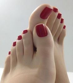 Pin on Feet gallery Pin on Feet gallery Pretty Toe Nails, Cute Toe Nails, Pretty Toes, Diy Nails, Toe Nail Color, Nail Colors, Red Toenails, Feet Gallery, Painted Toes