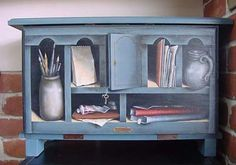 This fantastic tromp l'oeil is from the Notebook Series designed by Ann Kingslan MDA and painted by this person >   オイル作品4