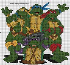Turtle ninja cross stitch 2-3