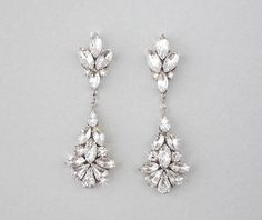 CAMILLE: Wedding Earrings - Swarovski Crystal Chandelier Earrings — Ambrosia Bridal Hello! I am jewelry designer from Egypt fulfilling my dream by selling my creations. Take a moment to visit the site and view my full collection at: https://www.etsy.com/shop/Lesense - Use 10PERCENTOFF to get 10% off your purchase!!